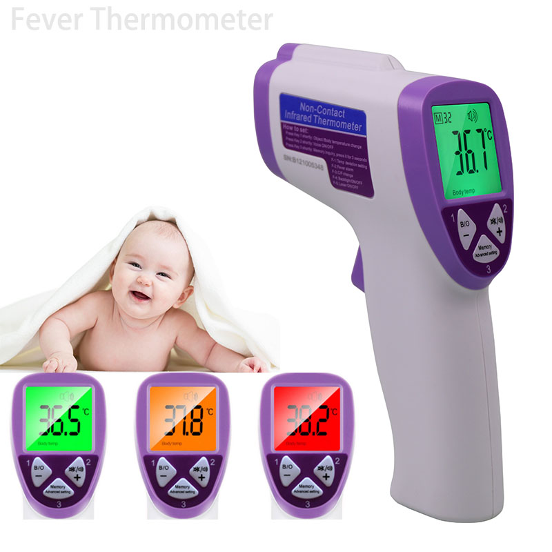 3 cor digital não contato corpo termômetro bebê adulto infravermelho testa termometro arma febre medição heath dispositivo