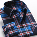Men Plaid Causal Shirt Long Sleeve Shirt Cotton Dress Shirts for Men S-4XL Big Size Chemise Homme Slim 2016 New