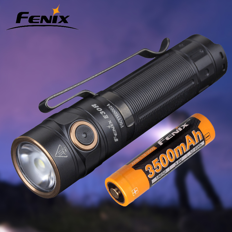 New FENIX E30R Magnetic charging 1600 lumens Portable outdoor waterproof flashligh