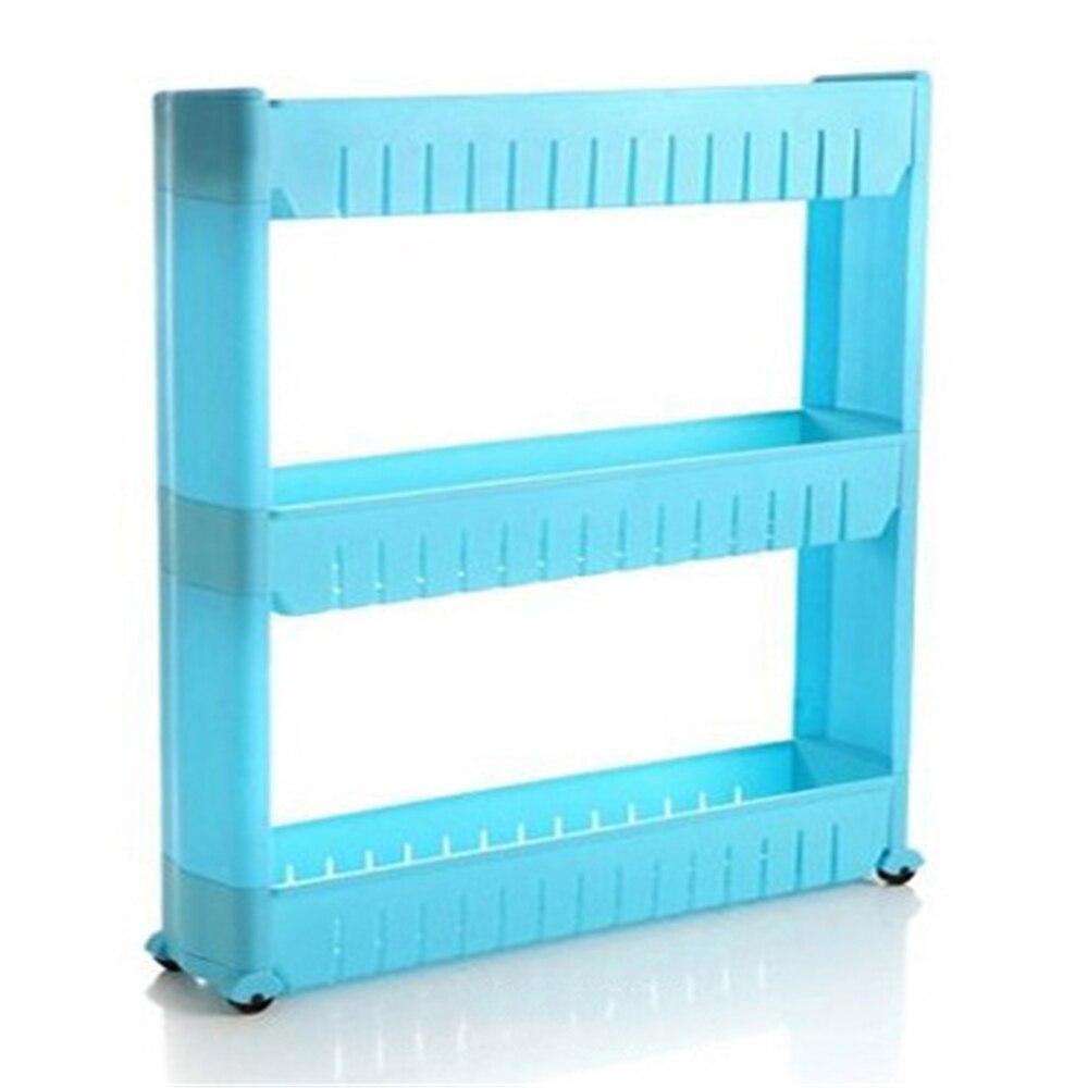 Multipurpose 3 Tier Gap Kitchen Storage Rack Shelf Slim Slide Tower ...