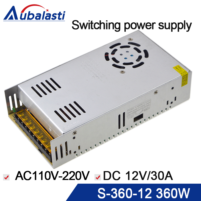 12V <font><b>30A</b></font> 360W Switching power supply Driver For CNC ROUTER AC110-220V image