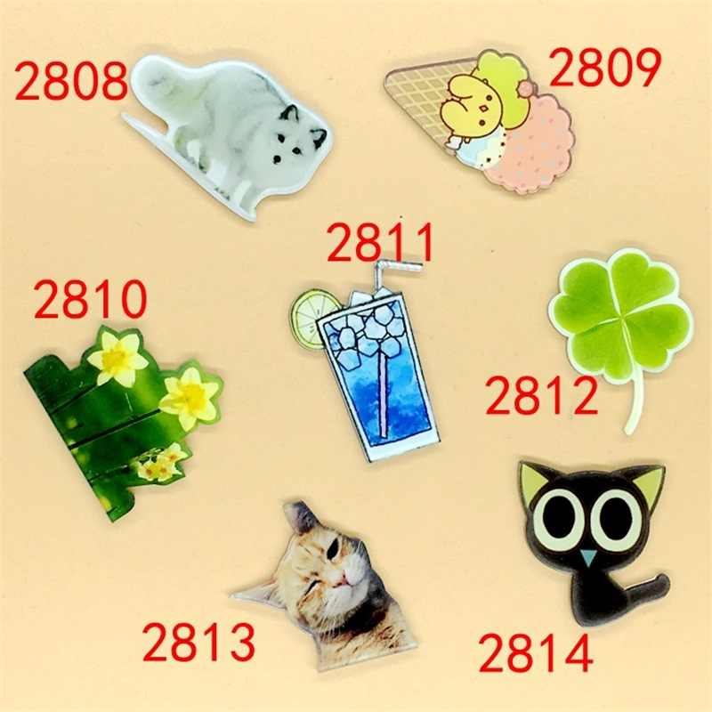 1 PC Cartoon Luoxiaohei Cat Clover Acrylic Brooches Badge Kids Backpack Brooch Student Clothes Brooches Pins Bag Clothing Decor