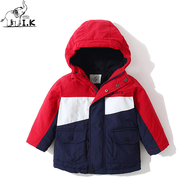 I.K Infant Boys plus velvet zipper fleece hoodie snowsuit baby Kid casual coat jacket Toddler warm outweat MY26001 Winter 2018 paul frank baby boys supper julius fleece hoodie