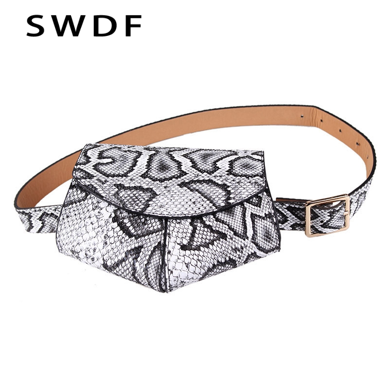 2019 New Bags For Women Pack Waist Bag Lingge Bags Women Snakes Hearts Irregular Phones Saddle Bags Adjustable Fashion Belts