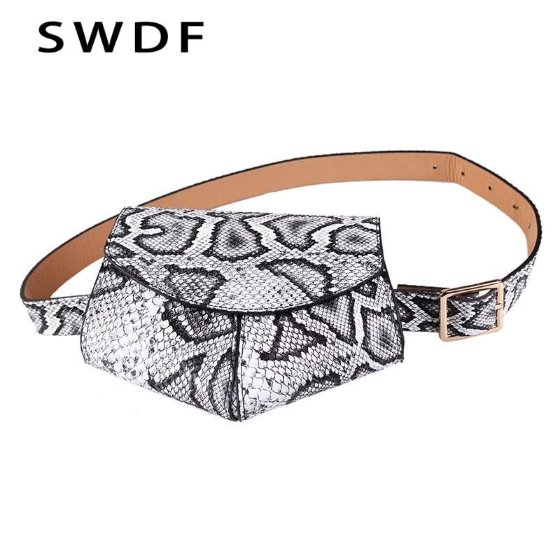 2019 New Bags For Women Pack Waist Bag Lingge Bags Women Snakes Hearts Irregular Phones Saddle Bags Adjustable Fashion Belts
