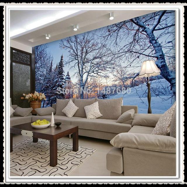 irgendeine gr e sch ne schnee benutzerdefinierte 3d On großes wandbild wohnzimmer