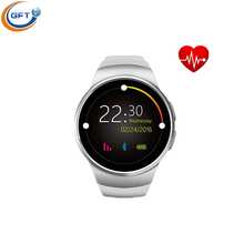 GFT KW18 Bluetooth Armbanduhr SIM smart uhr Karte Smartwatches mit pulsmesser silber/gold/schwarz unterstützung 16Gtf karte
