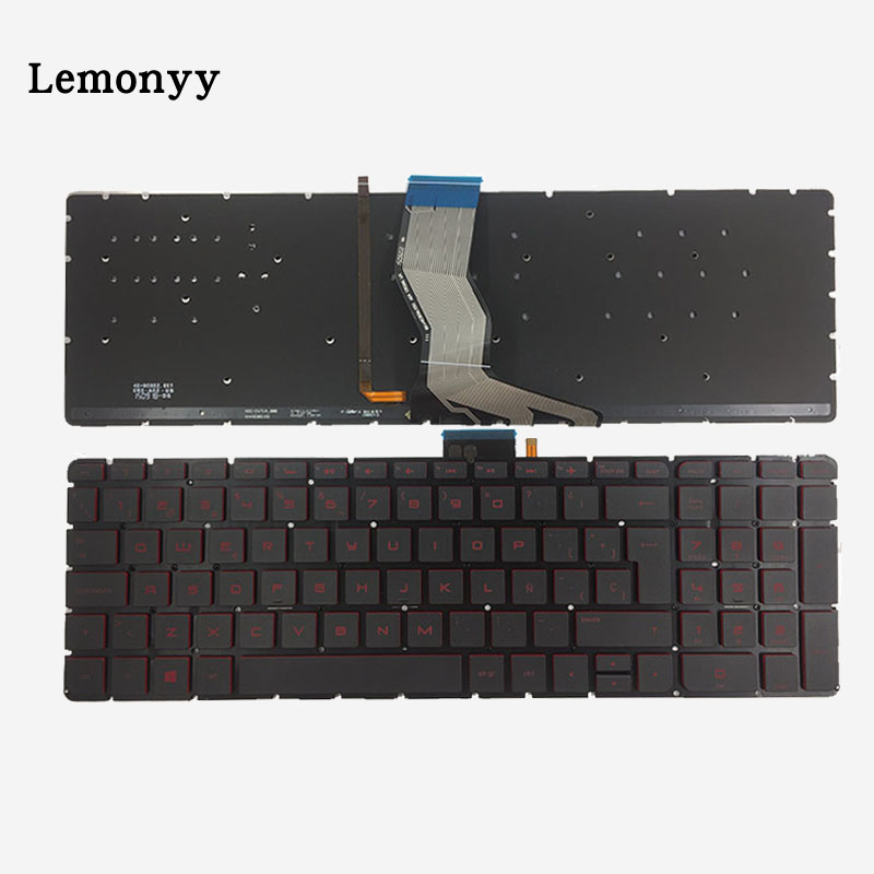 Spain Backlit laptop Keyboard for HP Omen 17-W000 17-W100 17-W200 17t-w000 17t-w100 17t-w200 17-w001la 17-w101la 17-W 17-w202la