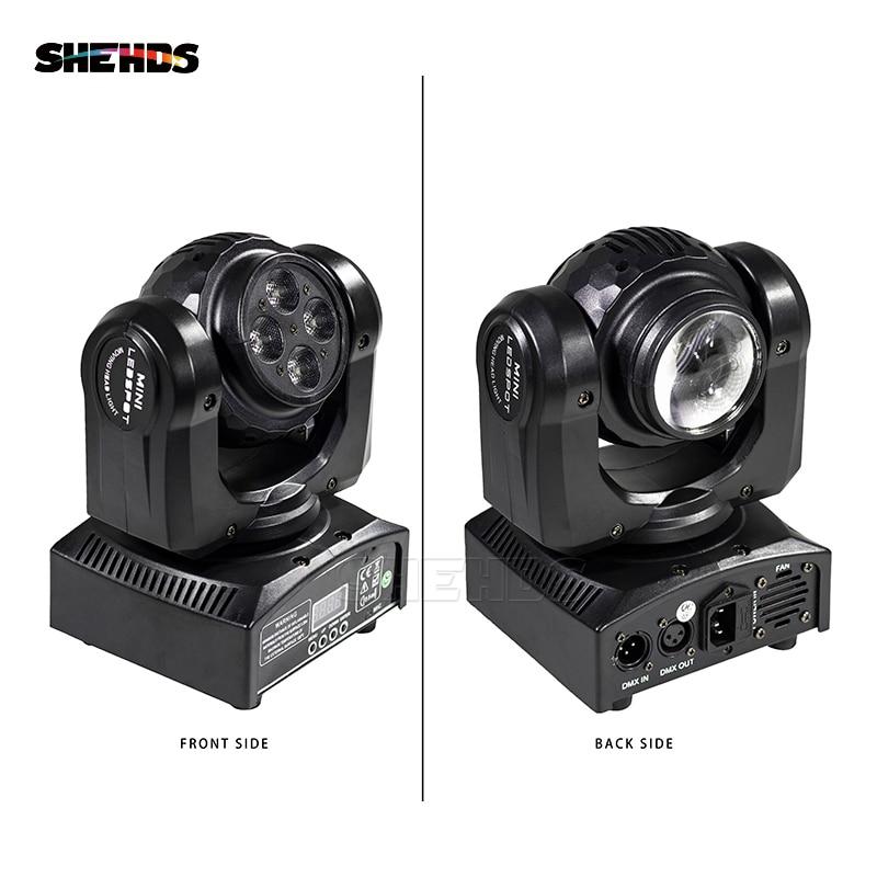 LEDビームウォッシュダブルサイド4 x10W + 1 x10W RGBW 15/21チャンネルDMX 512屋内ディスコパーティー用回転移動ヘッドステージ照明
