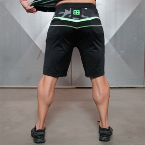 Image 2 - 2018 marke Mens Neue Ingenieure Kompression Turnhallen Shorts Sommer Bermuda Shorts Fitness Männer Bodybuilding Herren Körper Casua Shorts