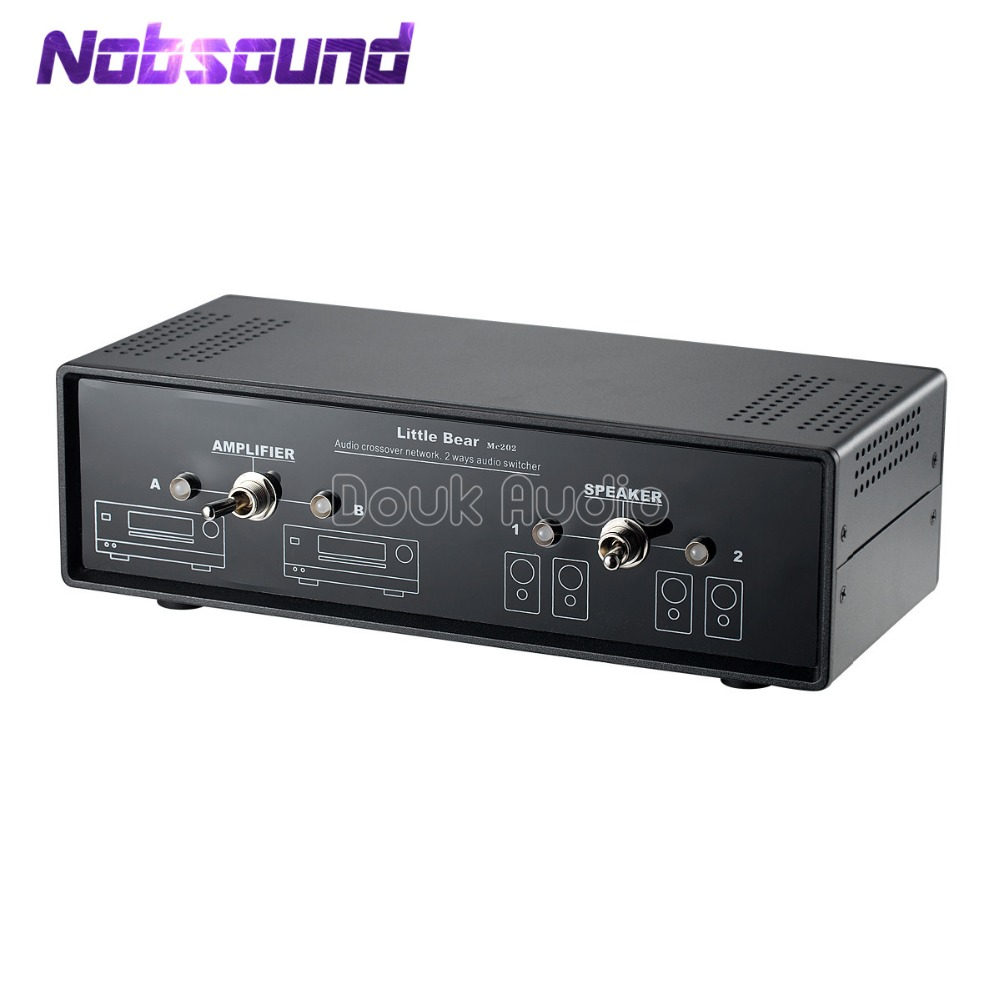 Nobsound Audio Comparator Crossover Network Stereo 2-Way Amplifier/Speaker Switcher Passive Selector