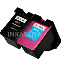 2PCS For HP 60XL For HP60 Ink Cartridge For HP 60 XL Deskjet C4635 C4640 C4650