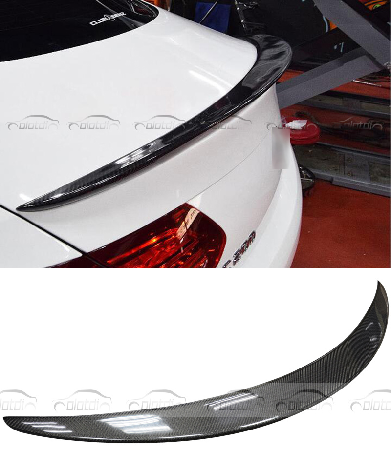 P Style Carbon Fiber <font><b>Rear</b></font> Trunk Lip <font><b>Spoiler</b></font> Wing for <font><b>Mercedes</b></font> <font><b>Benz</b></font> W205 4 Door C class c180 c200 c250 <font><b>c300</b></font> c350 c40 image