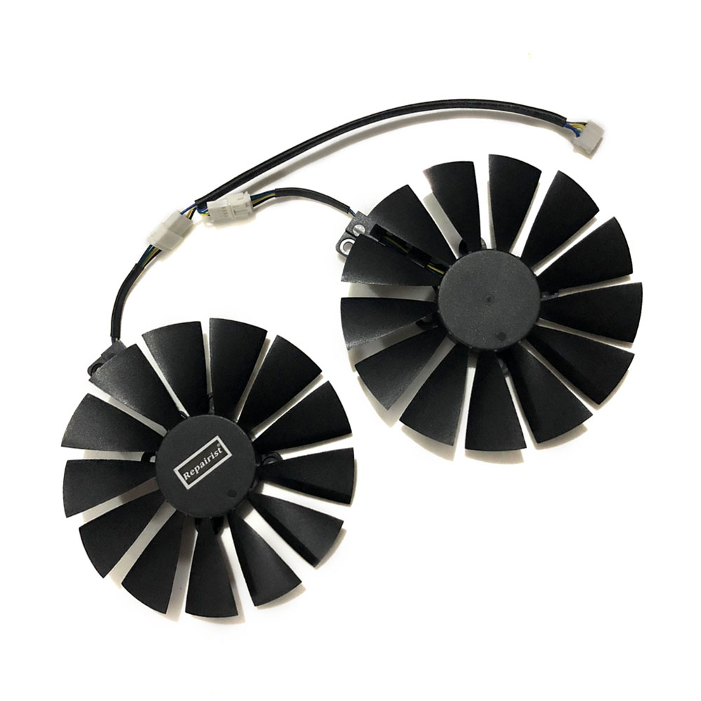 все цены на 2pcs/set 95mm New GPU Cooler For ASUS DUAL RX580 4G ROG STRIX RX570 GTX 1050TI GTX1080TI Gaming Graphics Card Cooling онлайн