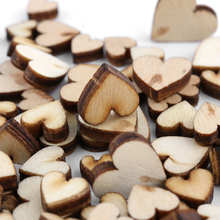 100Pcs 4-Size Wooden Wedding Party Love Hearts Decoration Rustic Craft Table Scatter Scrapbooking Accessories