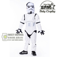 Kids Birthday Halloween Party Gift Star Wars Clone Trooper White Soldiers Storm Commando Boys Superhero Muscle