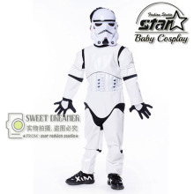 Kids Birthday Halloween Party Gift New Child Boy Deluxe Star Wars The Force Awakens Storm Troopers Cosplay Fancy Dress Kids Hall
