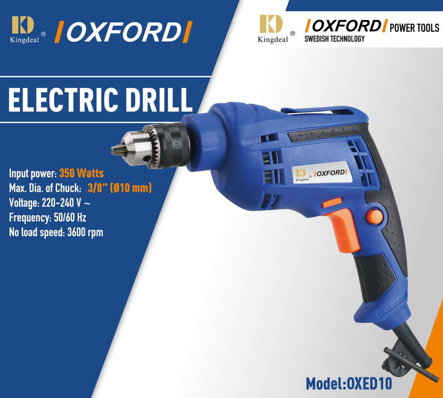 цена на 10mm electric hand drill 230V 50Hz 350W 3600rpm 3/8 key chuck drill for wood, steel