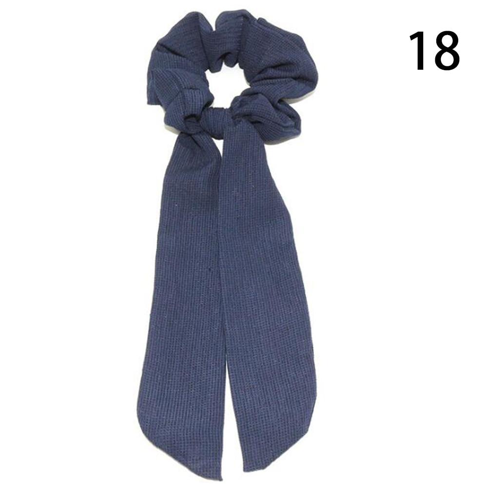 Богемные резинки для волос в горошек с цветочным принтом и бантом, женские эластичные резинки для волос, повязка-шарф, резинки для волос, аксессуары для волос для девочек - Цвет: 18