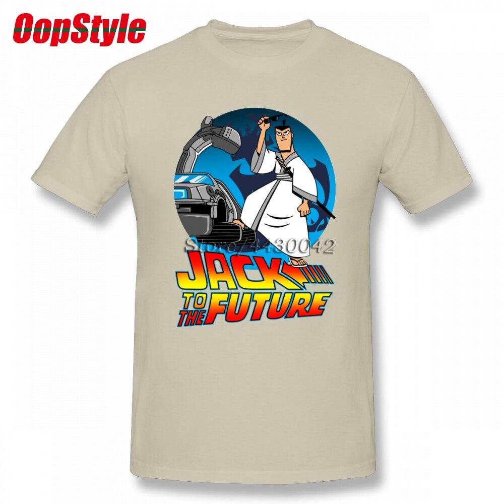Samurai Jack T-shirt For Men Short Sleeve Cotton Plus Size Custom Tee
