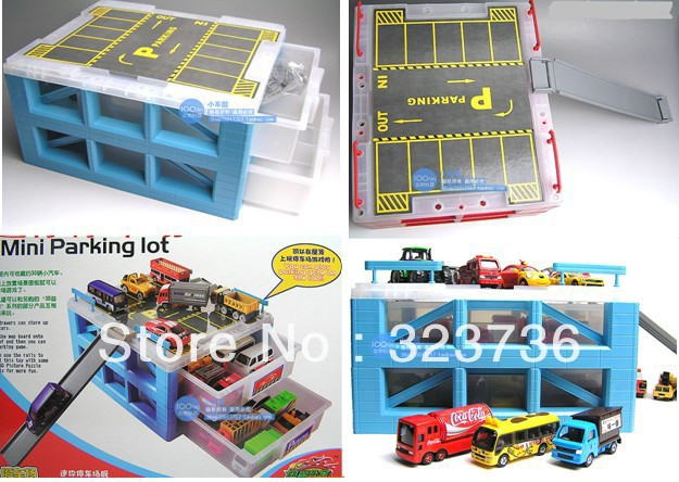Merveilleux Toy Car Drawer Storage Box Mini Barrowload Storage Box Mini Parking Lot Toyu0027s  Storage Case Free