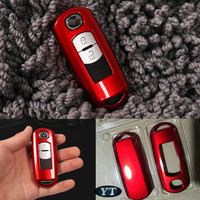 Caso chave do carro  titular da chave do automóvel para mazda 2 3 6 cx 5 cx 3  4 cores para escolher  acessórios de automóvel  estilo do carro Estojo de chaves p/ carro     -