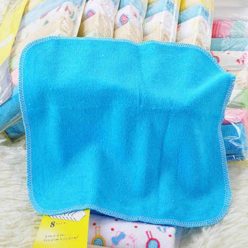 8 stks/partij Baby Pasgeboren Badhanddoek Washandje Baden Feeding Veeg Doek Zachte Vierkante Handdoeken Sets
