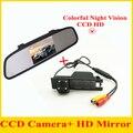 """Assistência De Estacionamento 4.3 """"TFT LCD Espelho + câmera Traseira Do Reverso Do Carro para OPEL Astra H/Corsa D/Meriva A/Vectra C/Zafira B/FIAT"""