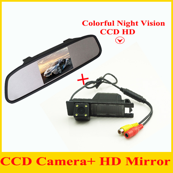 Car Parking Assistance 4.3 TFT LCD Car Reverse Mirror +Rear camera for OPEL Astra H/Corsa D/Meriva A/Vectra C/Zafira B/FIAT ynd led rear license plate light for vauxhall opel corsa c d astra h j zafira b