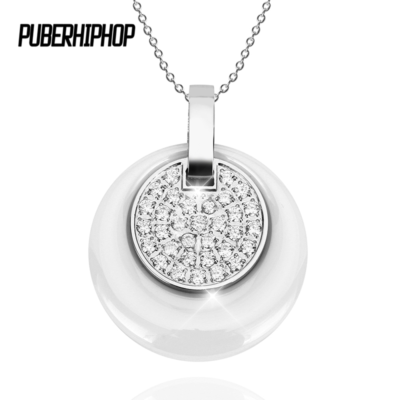 2 layer Retro Ceramic Women Necklace Women With Bling Crystal Fashion Jewelry Stainless Steel Link Chain Double Circles Necklace все цены