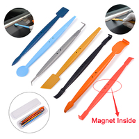 EHDIS Vinyl Car Wrap Magnetic Squeegee Set Carbon Foil Film Wrapping Car Magnet Scraper Auto Accessories Window Tints Tool Kit
