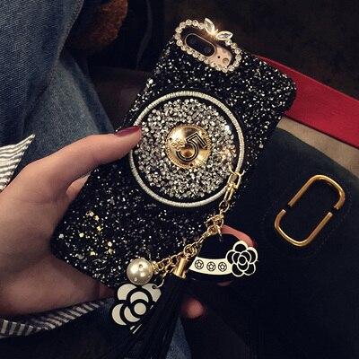 2017 New Girl Woman Lady Style 3D Diamond Bling Glitter Tassel Stars Chain Phone Case For iPhone X 8 Plus...  iphone x cases 3d 2017 New Girl Woman Lady Style font b 3D b font Diamond Bling Glitter Tassel Stars