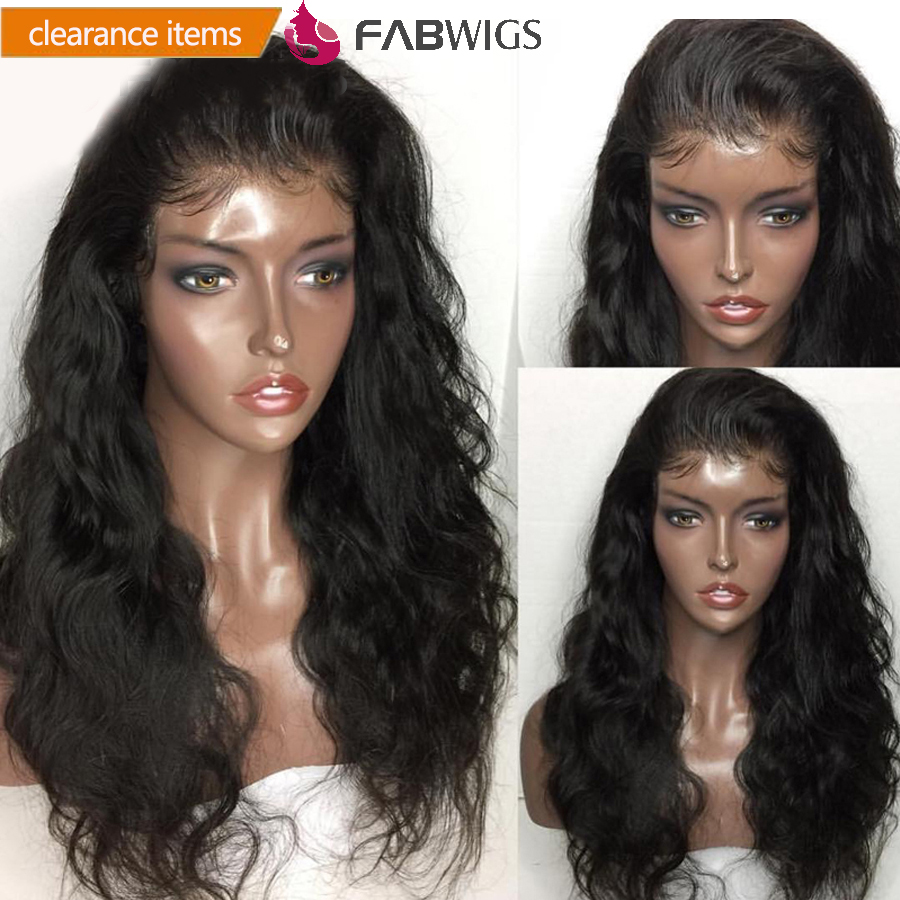 Fabwigs Body Wave Lace Front Human Hair Wigs Brazilian Lace Front Wig For Black Women Remy
