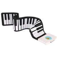 Portable 49 Keys 129 Tones Digital Electronic Organ Roll Up Child Keyboard Piano Foldable Silicone Keyboard Piano Ship from US