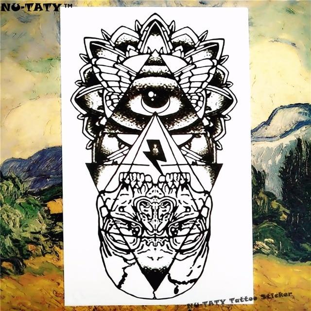 Nu-TATY Mysterious Evil Eye Temporary Body Art Sleeve Arm Flash Tattoo Stickers, 12x20cm Waterproof Tatto Henna Fake Tatoo