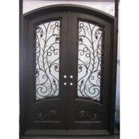 Двойной записи деревянные двери роскоши, двойные входные двери арочные двойные входные двери