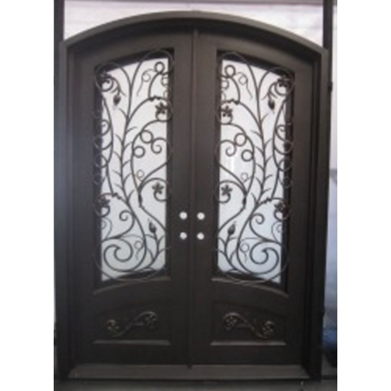 Hench 100% Steels Metal Iron Arched Double Entry Doors