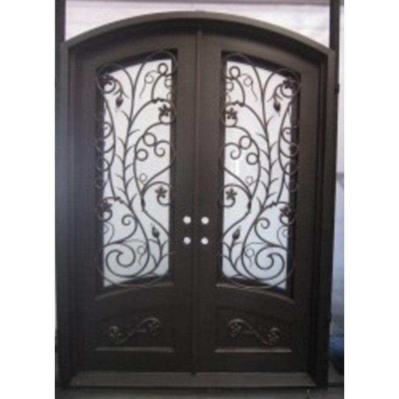 Portes en bois à double entrée portes à double entrée de luxe