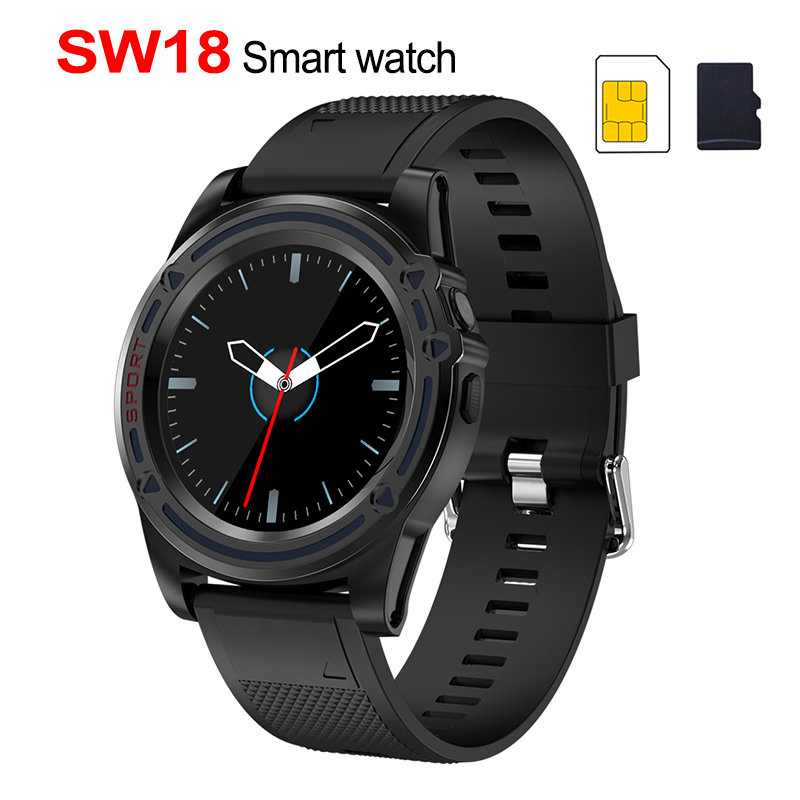Slimy Smart Watch Phone SW18 Clock SIM Push Message Answer Dial Call Bluetooth Calculation For Android Phone PK Q18  Smart Watch-in Smart Watches from Consumer Electronics