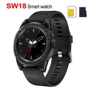 Image 1 - 칙칙한 스마트 시계 전화 sw18 시계 sim 푸시 메시지 응답 전화 안드로이드 전화 pk q18 스마트 시계에 대한 블루투스 계산