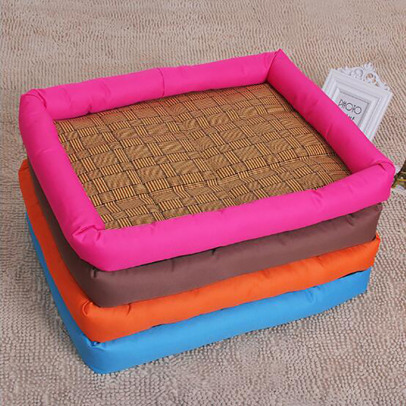 Venxuis Comfortable Linen Cat Dog Pad Crates Summer Ice Cooling Cat Dog Mat Beds Keep Cooling Kennels Sofa For Dogs