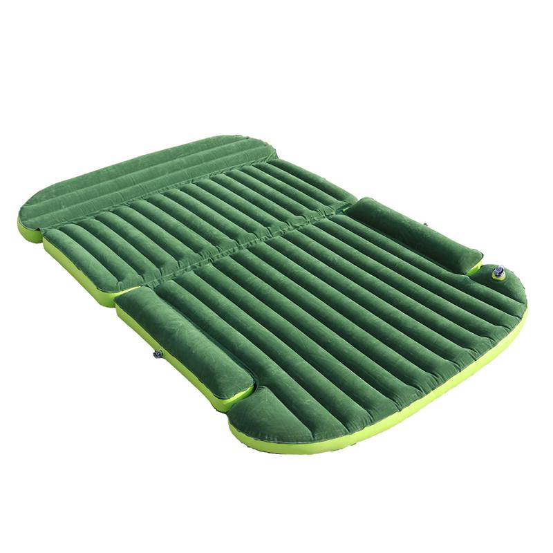 Car Travel Inflatable Mattress SUV Bed Camping Back Seat Extended Mattress PVC Flocking Car Travel Bed car air mattress travel bed car back seat cover inflatable mattress air bed good quality inflatable car bed for camping khaki