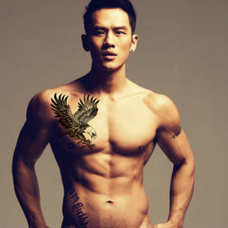 2016 Flying Eagle Fake Tattoo Arm Bird Body Art Hawk Tattoos For Sexy Man Waterproof Temporary Tattoo Sleeves Men Stickers Paste