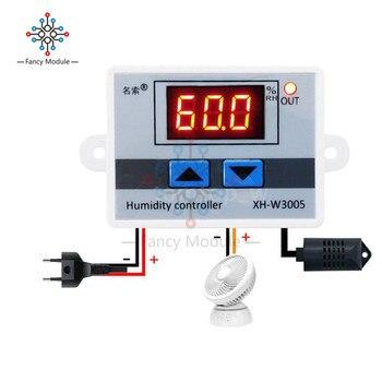 XH-W3005 W3005 Dijital nem kontrol aleti 220 V 12 V 24 V Higrometre Nem Kumanda Anahtarı 0 ~ 99% RH Hygrostat w /nem sensörü