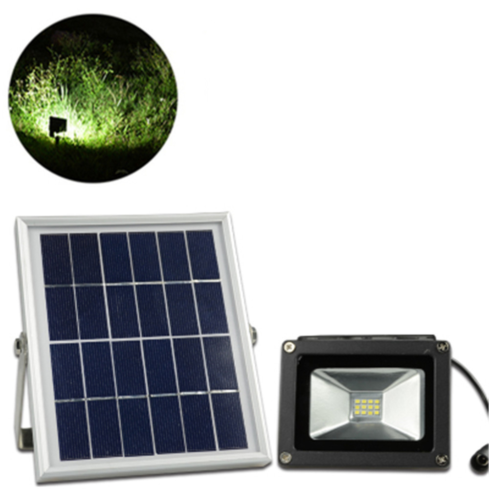 GREENHUI 12LED  Solar Floodlight Waterproof Led Spotlight with 5M wire 2200mA Battery for Garden Path White / Warm white