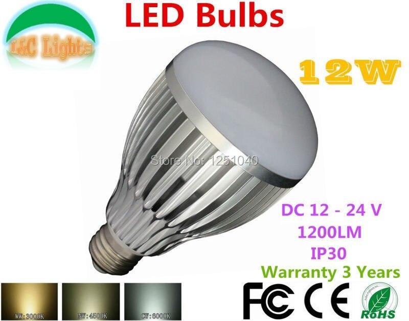 Discount 4pcs Lot A80 12w Led Bulbs Dc 12v 24v High Power Led Lamp 1200lm Ultra Bright Home