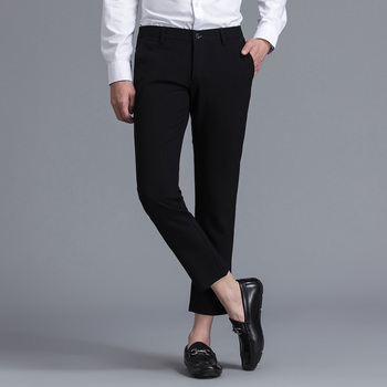 Limited Brand Clothing Men Casual Pants Spring Summer Mid Full Length New Fashion 2020 Slim Straight Man Trousers Plus Ankle 6