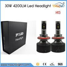 P7 LED Headlight H13 All In One 4200LM 30w H13 LED Headlight Lamp Hi/Lo Auto H13 LED Car Headlight Bulb