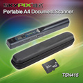 Frete grátis!! Hard Carrying Case + Skypix TSN415 Handheld Portátil A4 Documento Photo Scanner & cartão de 8 GB TF