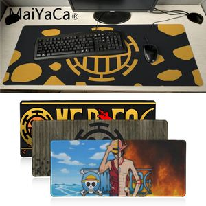 Maiyaca one piece logo flag Desktop Mousepad BIG SIZE 700x300mm anime mouse pad XXL Durable table PC Anti-slip Mouse Mat(China)